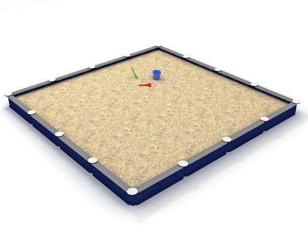 Zandbak kunststof - 16-zijdig