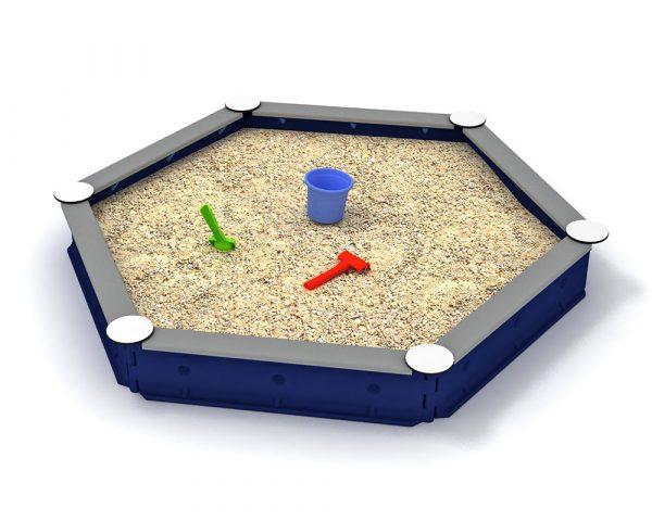 Zandbak kunststof - 6-zijdig