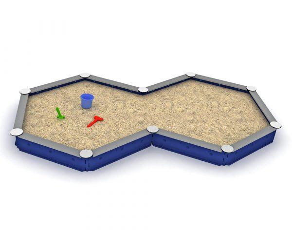 Zandbak kunststof - 10-zijdig